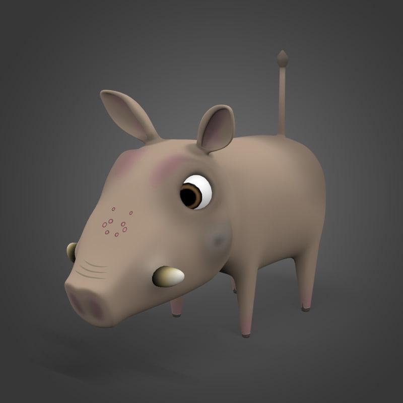 3ds max warthog hog