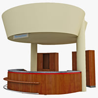 3d reception desk office model