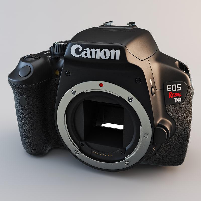 3d canon eos rebel t4i