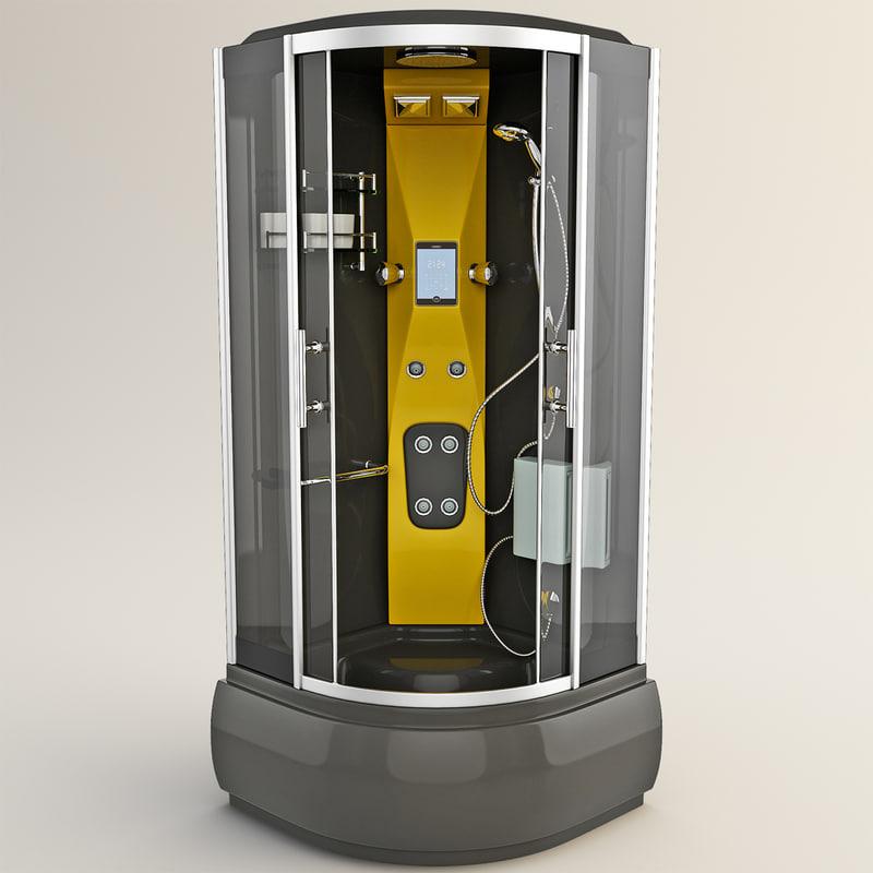 3ds shower hydromassage cabin 2