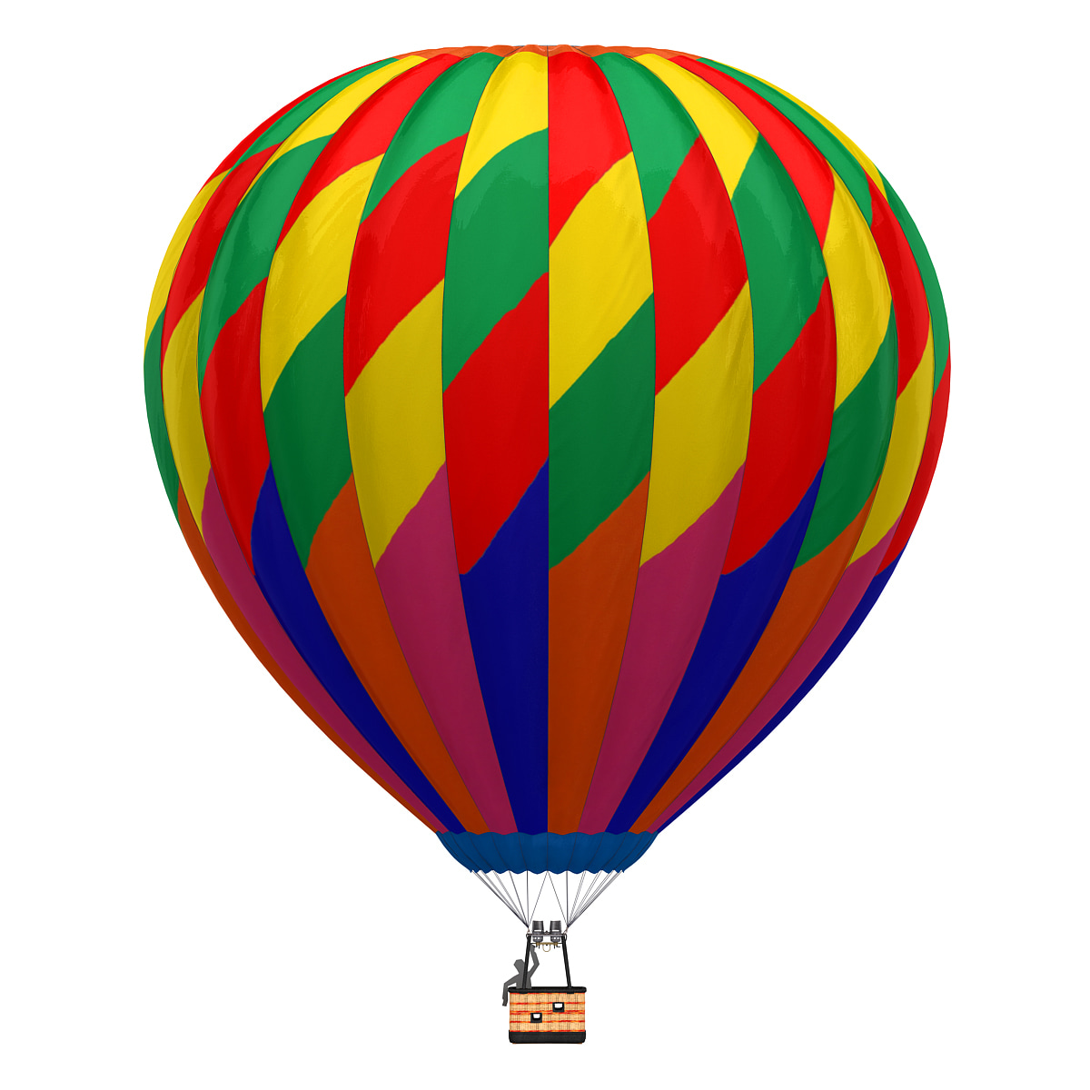 3d air balloon 6 model
