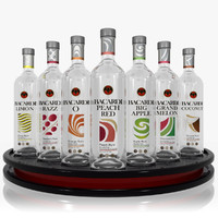 Bacardi Flavored Rum Set