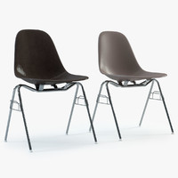 Photoreal Eames Plastic Side Chairs (DSS)