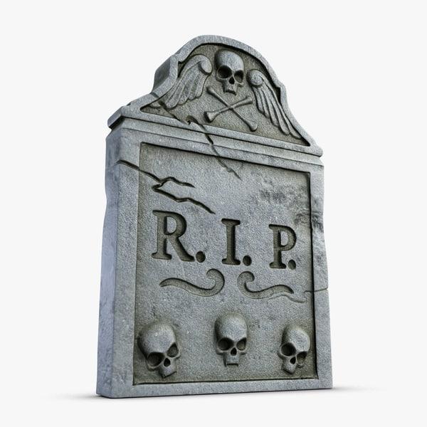 3d model gravestone 1 graves