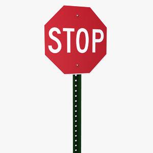 stop sign obj