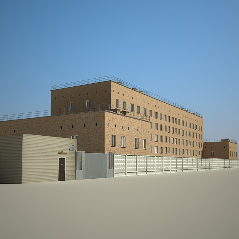 industrial office building 3d model