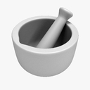 Laboratory Mortar and Pestle 3D models