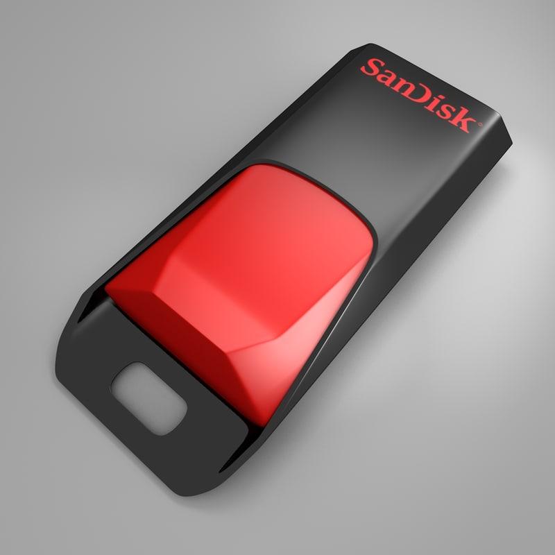 sandisk usb flash drive 3d model