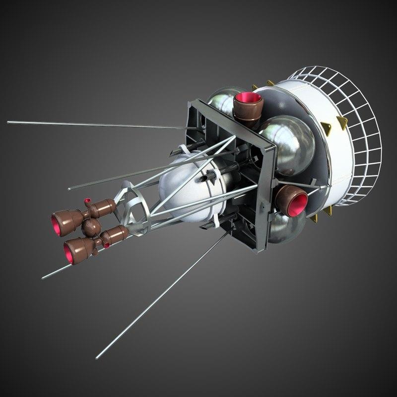space satellite 4 3d max