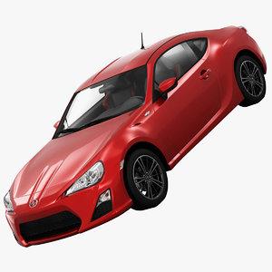 scion fr-s sports car 3d model