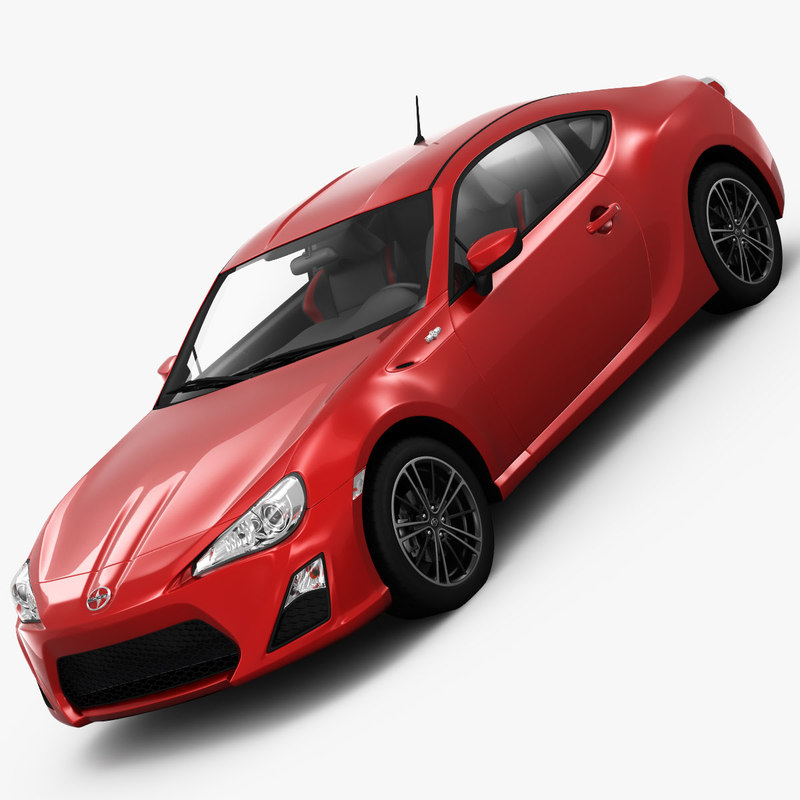 scion fr-s sports car 3d model