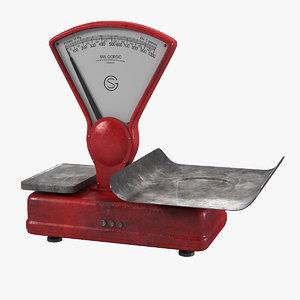 3d model vintage italian scale