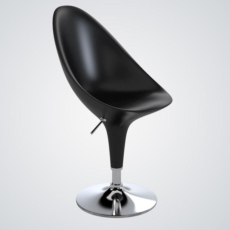 3d model magis bombo swivel chair