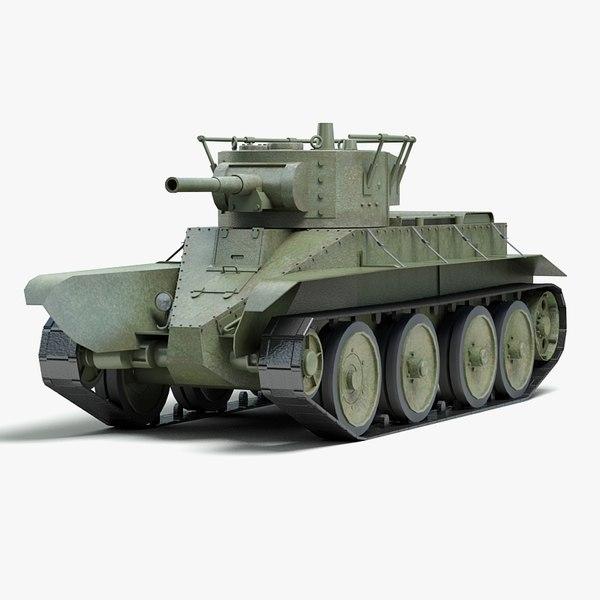 3d ww2 soviet tank bt model