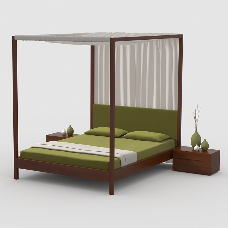 canopy bed cherry wood max