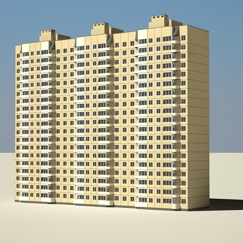 civil building 3d max