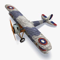 Nieuport 28 Low Poly