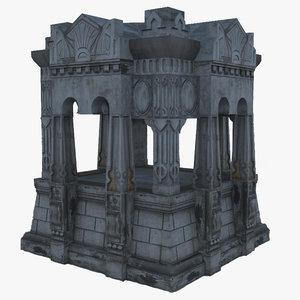 crypt 3d model