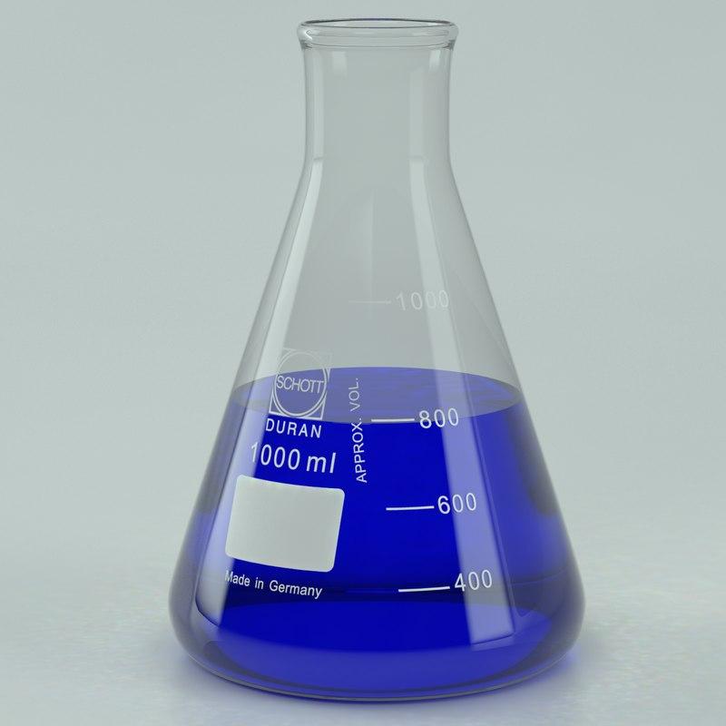 3ds max erlenmeyer 1000 ml lab