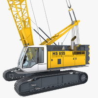 3d crawler crane rigged