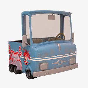 3d 3ds truck cartoon