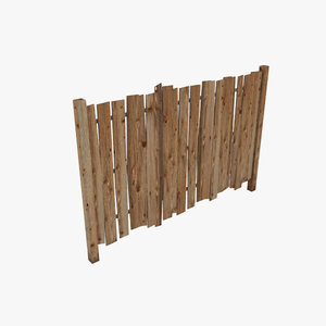 3d wood fence