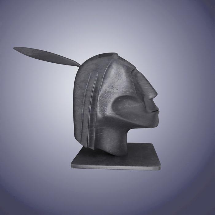 human indian statue 3d model