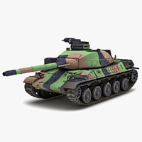 amx-32 france main battle tank 3d max