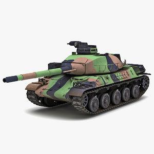 amx-32 france main battle tank 3d max