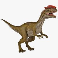 dilophosaurus dinosaur modelled 3d max