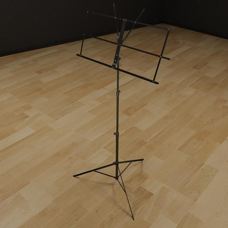 3d model music stand