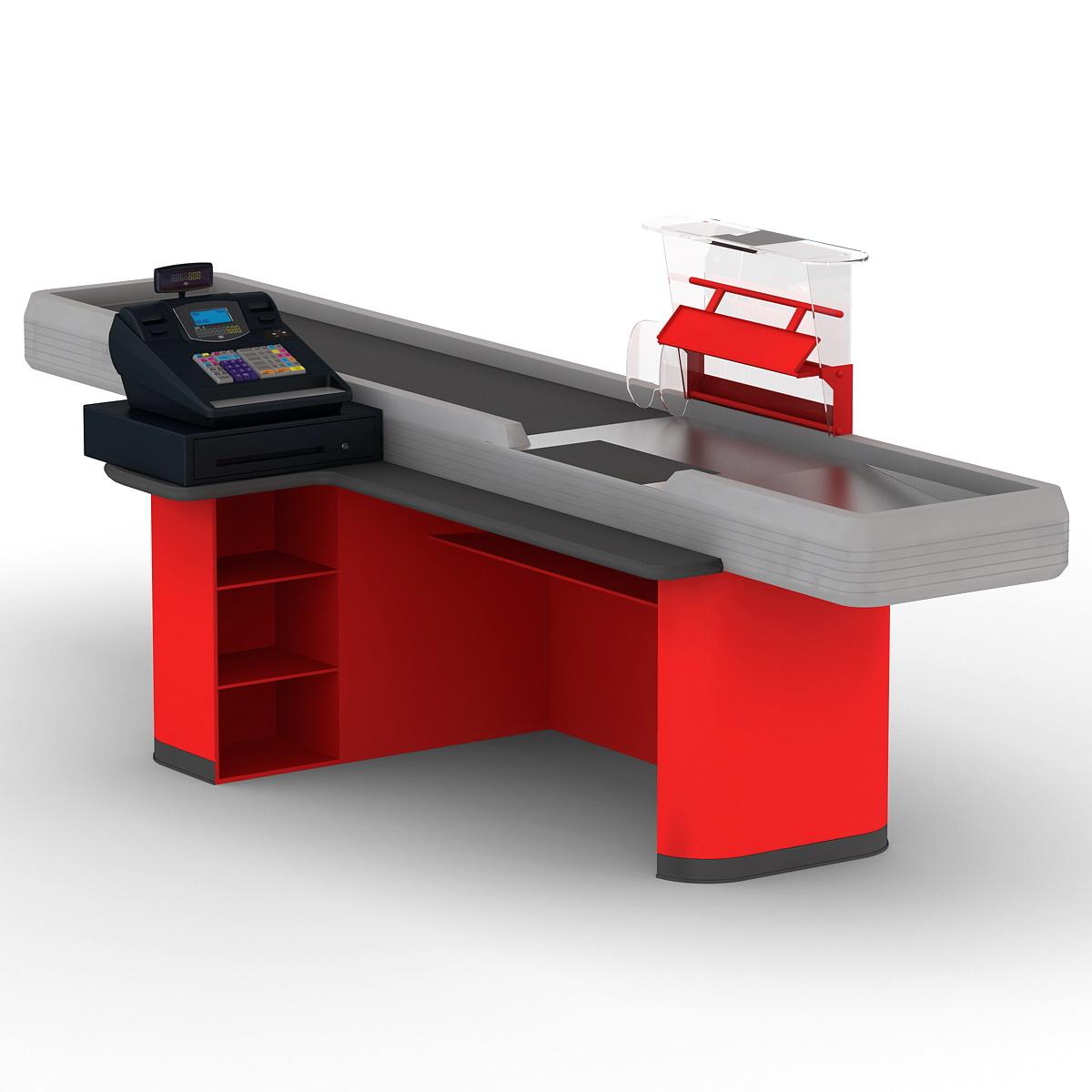 cash counter 4 3d model