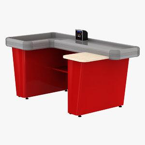 3d model cash counter 7