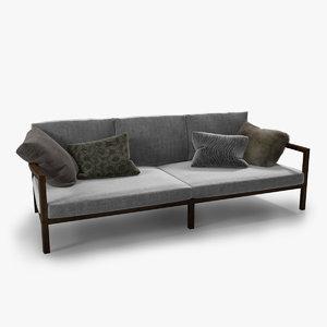 3d modern italian sofa