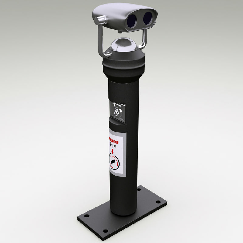 3d model coin operated telescope 2