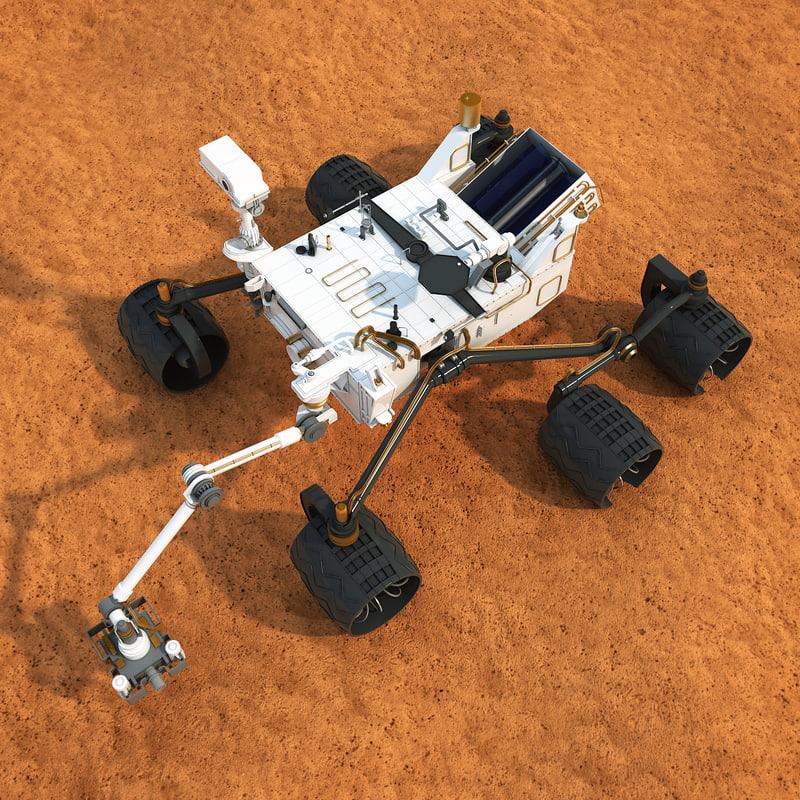 3d obj curiosity mars rover
