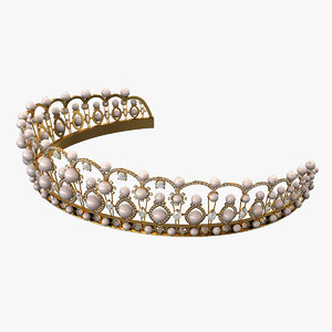 diadem tiara crown 3d max