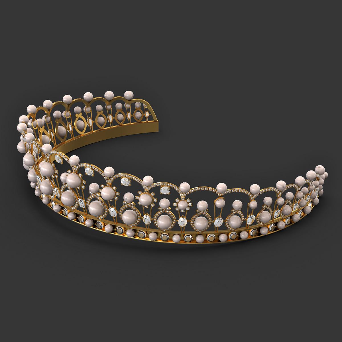 diadem tiara crown 3d max