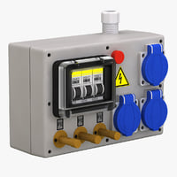 electrical panel board 3d model