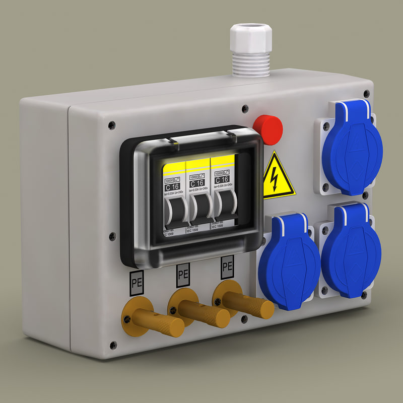 electrical panel board 3d model