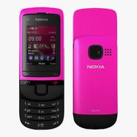 3d nokia c2 05 pink model