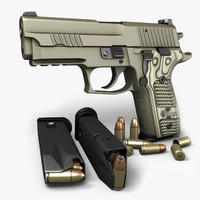 sig sauer p229 pistols 3d max