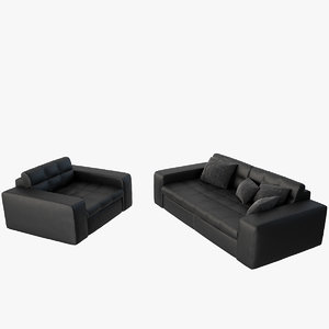 max leather sofa set