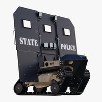 robotic ballistic shield rbs1 3d max