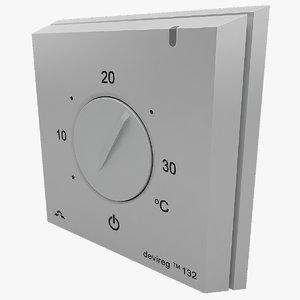 thermostat devireg 3d model