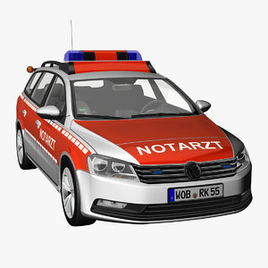 passat 2012 ambulance 3d model