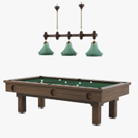 american pool table 3d model