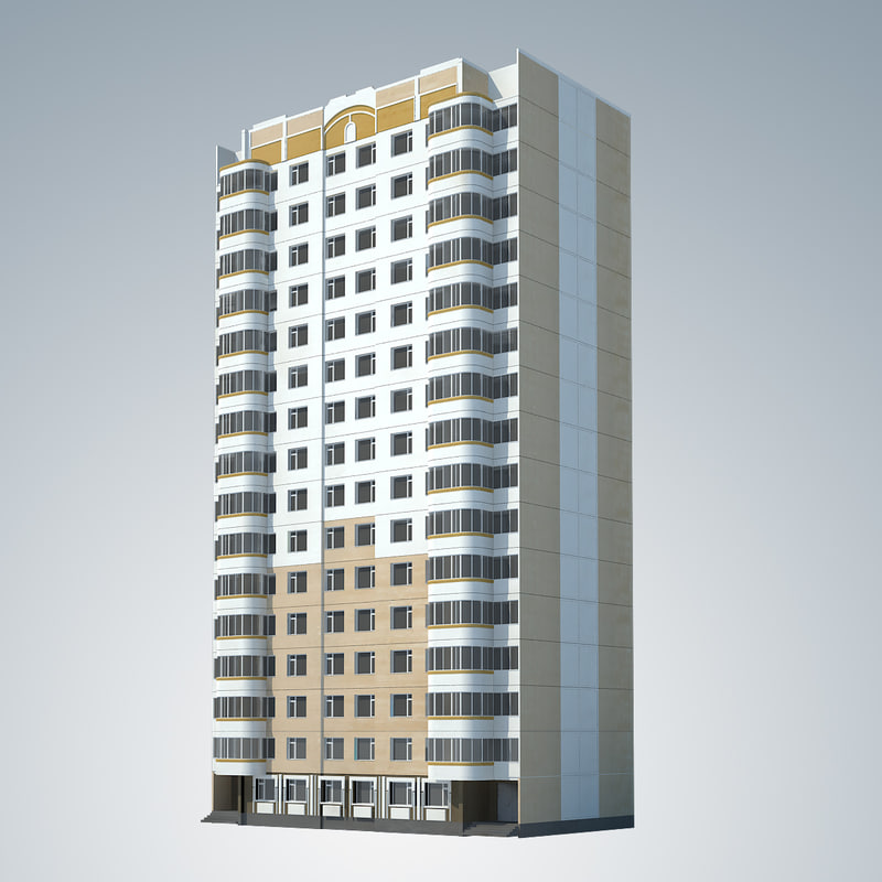 3d p 3 moscow building model
