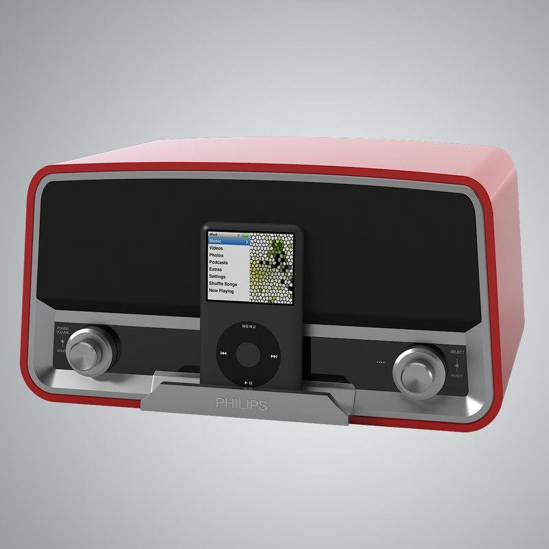 3d model philips 245 radio