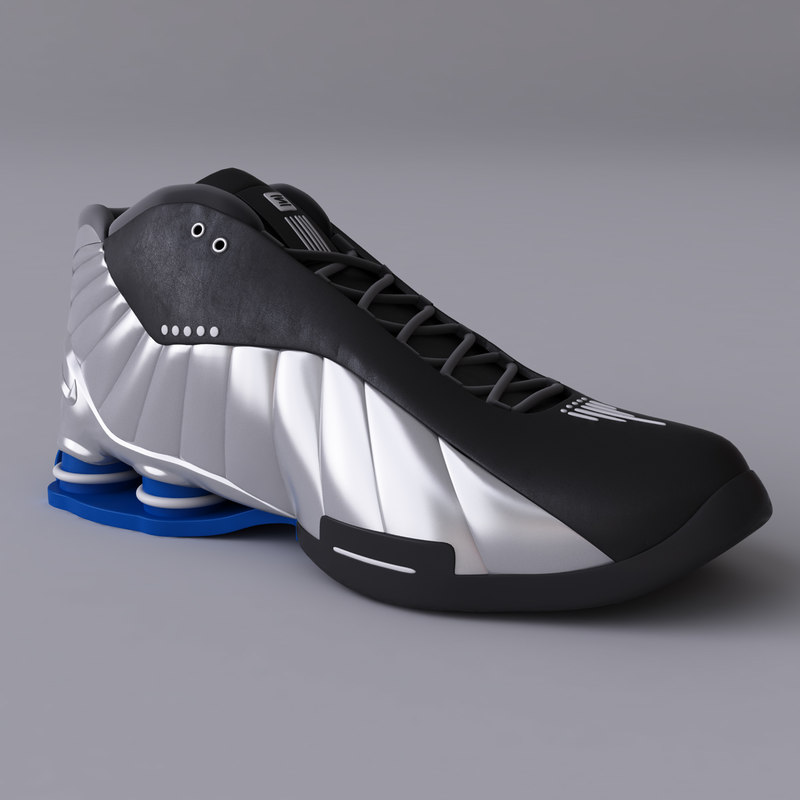 nike shox bb4 basketball 3d model
